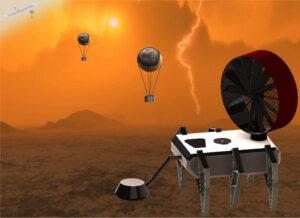 Jedna z vizualizací návrhu systému AREE (Automaton Rover for Extreme Environments)