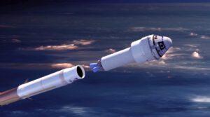 Stupeň Centaur s lodí Starliner se odděluje od Atlasu V