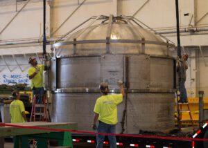Výroba nádrže SHIIVER (Structural Heat Intercept, Insulation and Vibration Evaluation Rig)