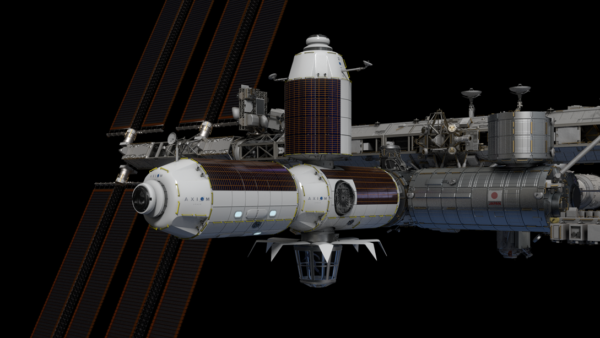 Budoucí možná podoba modulů společnosti Axiom u ISS