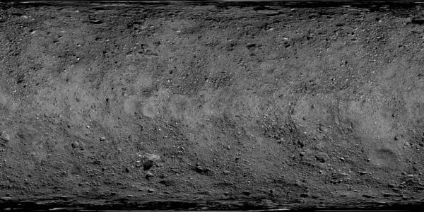 Povrch planetky Bennu