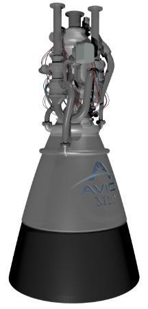 Vizualizace motoru M10 z roku 2019.
