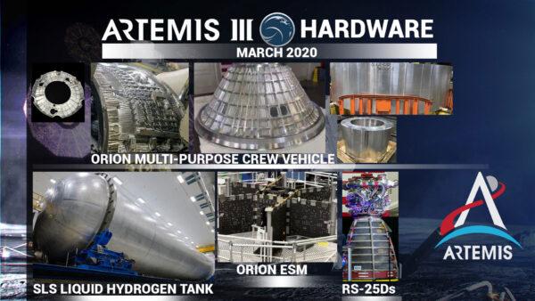 Přehled letových dílů pro Artemis III