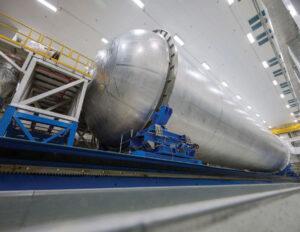 Nádrž na kapalný vodík pro třetí SLS, únor 2020