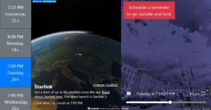 V pravé části webu najdete interaktivní ukázku Vámi vybraného přeletu (vybíráte v levém sloupci) v prostředí Google Street View.
