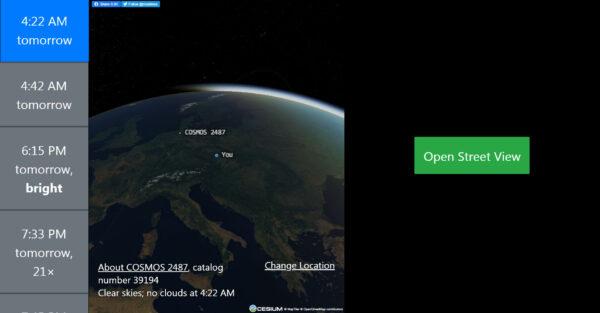 Web na aderse james.darpinian.com/satellites je skutečně velmi jednoduchý a získáte díky němu všechny informace snadno pochopitelnou formou.