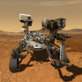 Vizualizace roveru Perseverance.