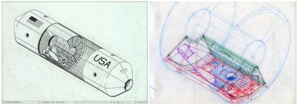 Jeden z návrhů pro NASA, které vytvořilo studio Future systems. Jedná se o spací koje pro tehdy vznikající vesmírnou stanici.