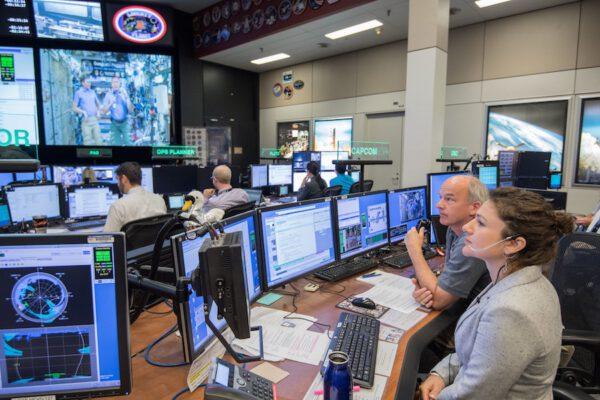 Řídící středisko ISS v Houstonu.
