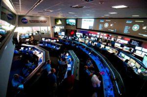 Řídící středisko v JPL za běžného provozu.