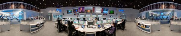 Řídící středisko ESOC v Darmstadtu.