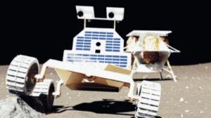 Rover Moonranger na vizualizaci firmy Astrobotic