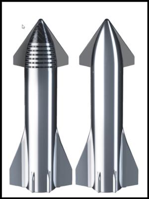 Pilotovaná a nákladní verze Starship