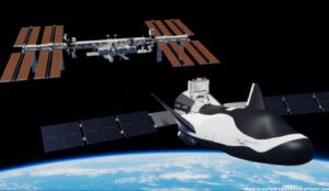 Takto by měl vypadat Dream Chaser na oběžné dráze. S nákladním modulem a rozloženými křídly