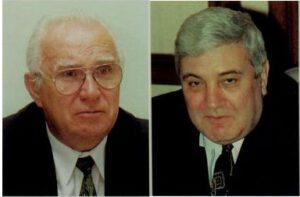 Šéf RKK Energija Jurij Semjonov (vlevo) a šéf RKA Jurij Koptěv se neměli příliš v lásce...
