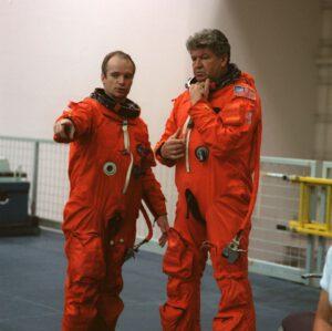 Precourt a Rjumin během výcviku