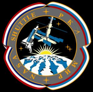Oficiální emblém programu Shuttle-Mir