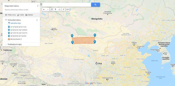 Michal Václavík vytvořil mapu očekávaného místa přistání nové čínské lodi.