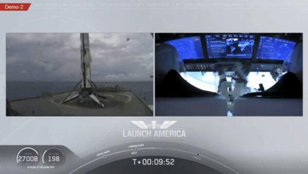 První stupeň Falconu 9 úspěšně přistál na plovoucí plošině v Atlantickém oceánu
