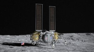 Koncept pilotovaného landeru společnosti Dynetics