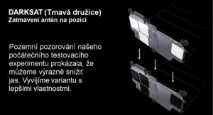 Ukázka upravených částí na tzv. Darksatu od SpaceX.