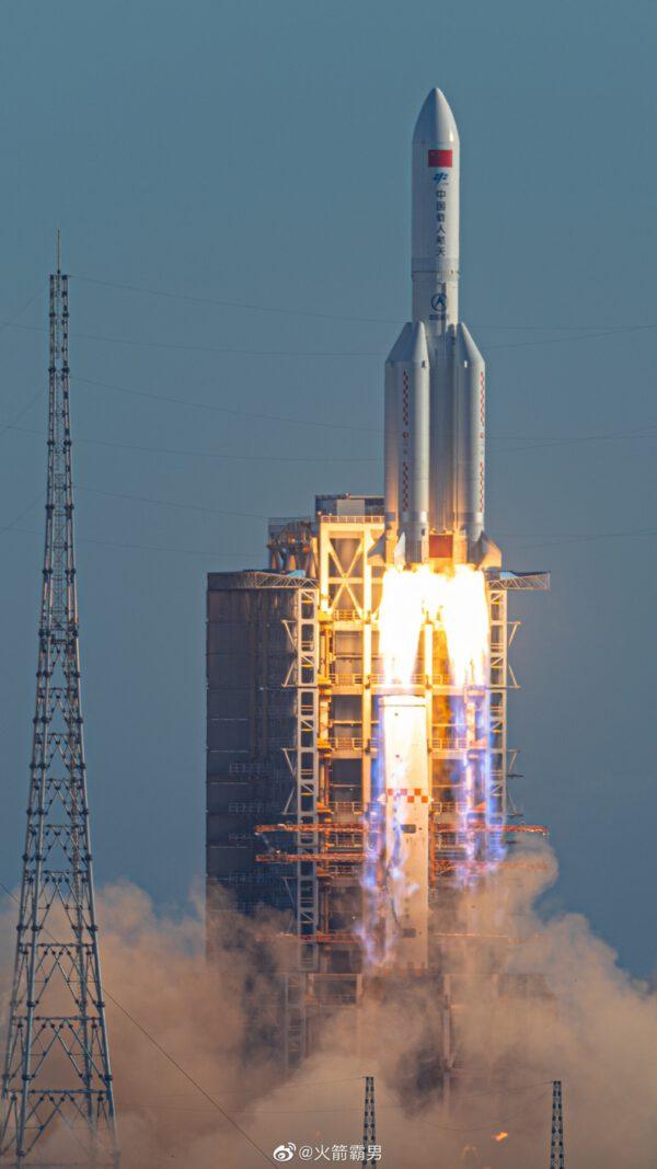 Start rakety CZ-5B