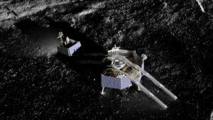 Rover VIPER opouští lander Griffin.