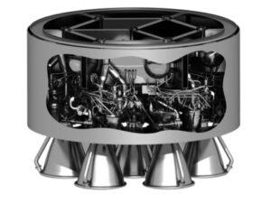 Možné uspořádání motorů Prometheus.