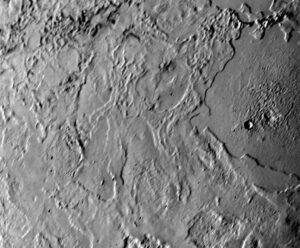 Triton vyfocený Voyagerem 2 ze vzdálenosti menší než 80 000 km.