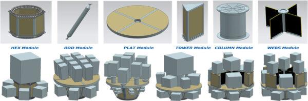 Modulární dispenzer SSMS nabízí celou řadu různých konfigurací, které budou přesně šité na míru zákazníků pro konkrétní misi.