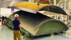 Dokončený demonstrační exemplář panelu adaptéru USA s nanesenou vrstvou tepelné izolace, květen 2020