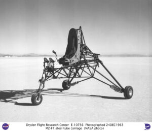 Základ experimentálního tělesa bez vlastního pohonu M2-F1, který byl poskládán z dílů letadla Cessna 150.