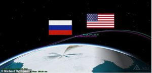 Kosmos 2542 během přiblížení k družici USA 245
