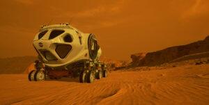Hermetizovaný rover bude posádce současně domovem i laboratoří.