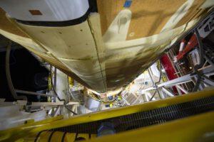 Unikátní pohled na vodíkovou nádrž centrálního stupně na stanovišti B-2
