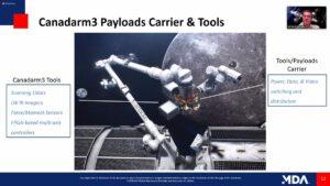 Sada specializovaných nástrojů systému Canadarm3