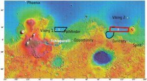 Pristávacia oblasť sondy Tianwen-1