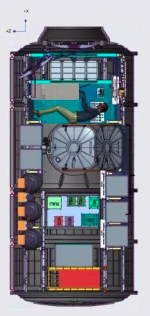 Vnitřní uspořádání modulu HALO, který má být vynesen společně s PPE