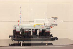 Model jedinečné platformy Odyssey. Sloužící jako kosmodrom na vodě.