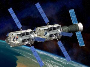 """""""Mini Space Station"""" ze dvou derivátů ATV a jedné dopravní lodi Sojuz"""