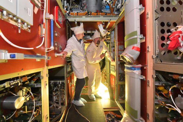 Interiér modulu Nauka