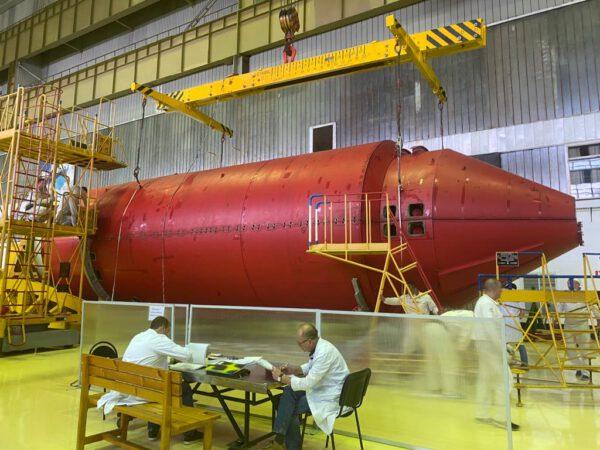 Vědecký modul Nauka v ochranném krytu