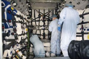 Vnitřní prostor nákladní lodi Cygnus