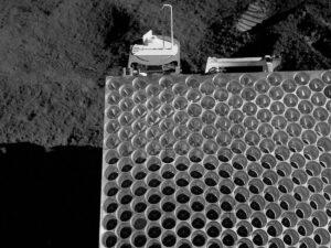 Detail koutového odražeče používaného během misí Apollo
