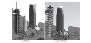 Možná podoba vertikální integrace nákladu raket Falcon