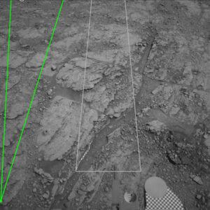 Označování útvarů na snímcích z Marsu.