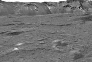 Mozaika snímků kráteru Occator vytvořená ze snímků sondy Dawn.