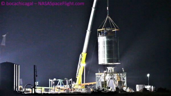 Přeprava nádrže Starship SN-7.1