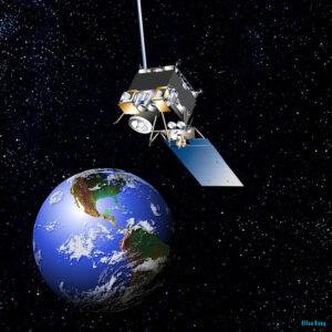 Vizualizace GOES-13 na geostacionární dráze.