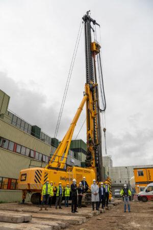 Stavba nové čisté místnosti ve středisku ESTEC.